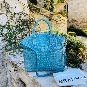 NWT Brahmin LG Duxbury Astral blue handbag